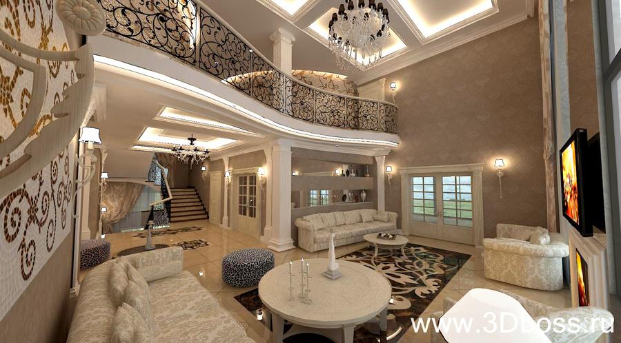 Интерьеры домов с лестницей фото