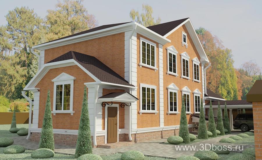 Частный дом дизайн фасада из камня