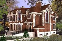 визуализация 3D загородного дома