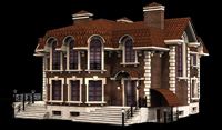 дизайн проект фасада загородного дома