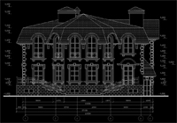 чертеж фасада загородного дома