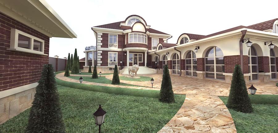 Интерьер фасада частного дома