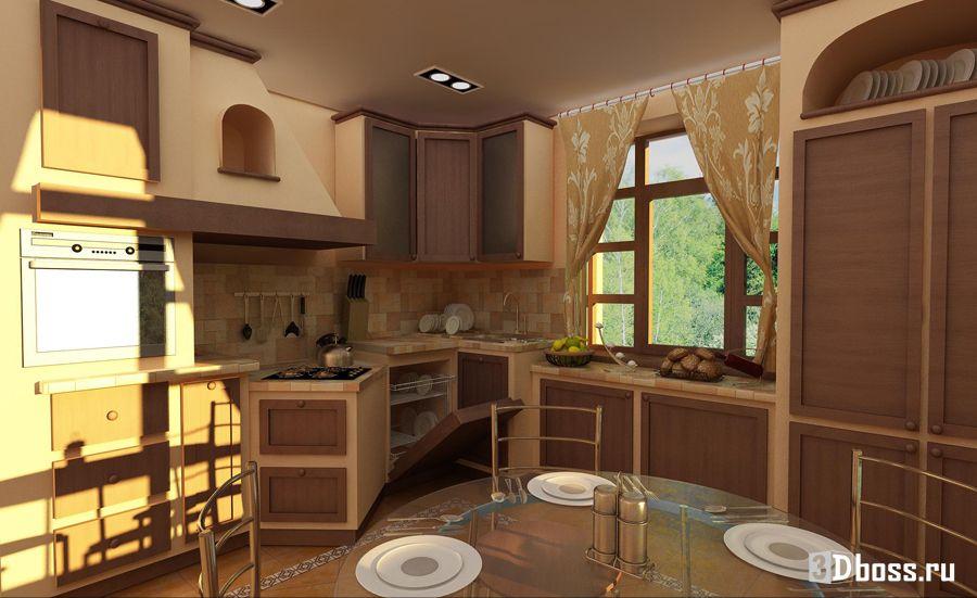 Кантри дизайн кухни