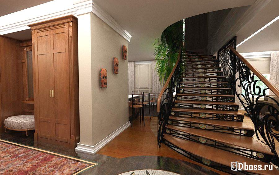 Дизайн прихожей в частном доме второй этаж